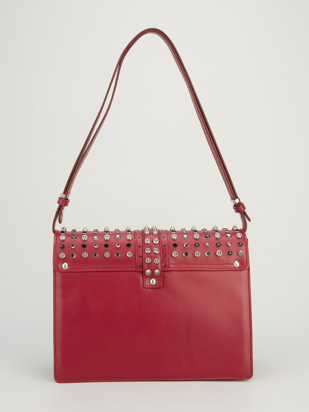 Lyst Paula Cademartori Caroline Studded Handbag In Red