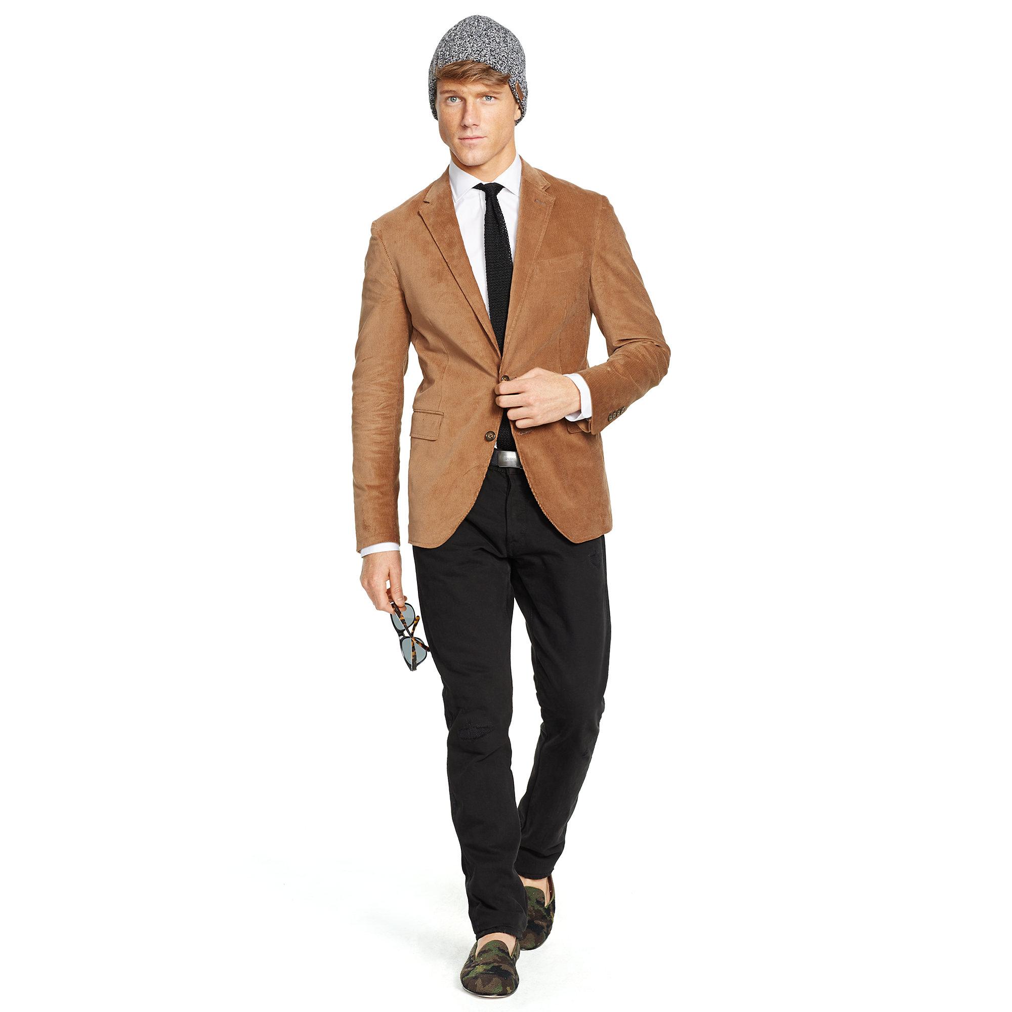 Polo ralph lauren Morgan Corduroy Sport Coat in Brown for Men | Lyst