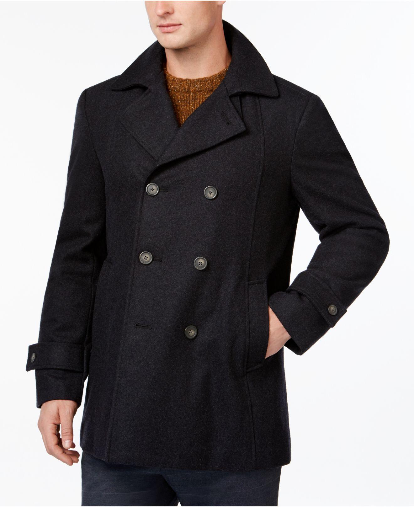 tommy hilfiger brady slim fit overcoat in gray for men lyst. Black Bedroom Furniture Sets. Home Design Ideas