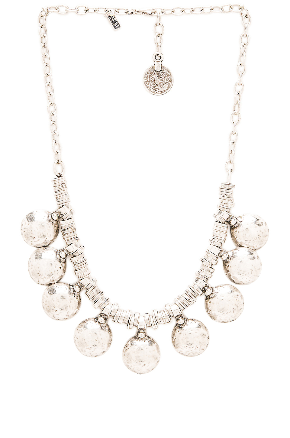 natalie b jewelry coin of ata necklace in metallic lyst