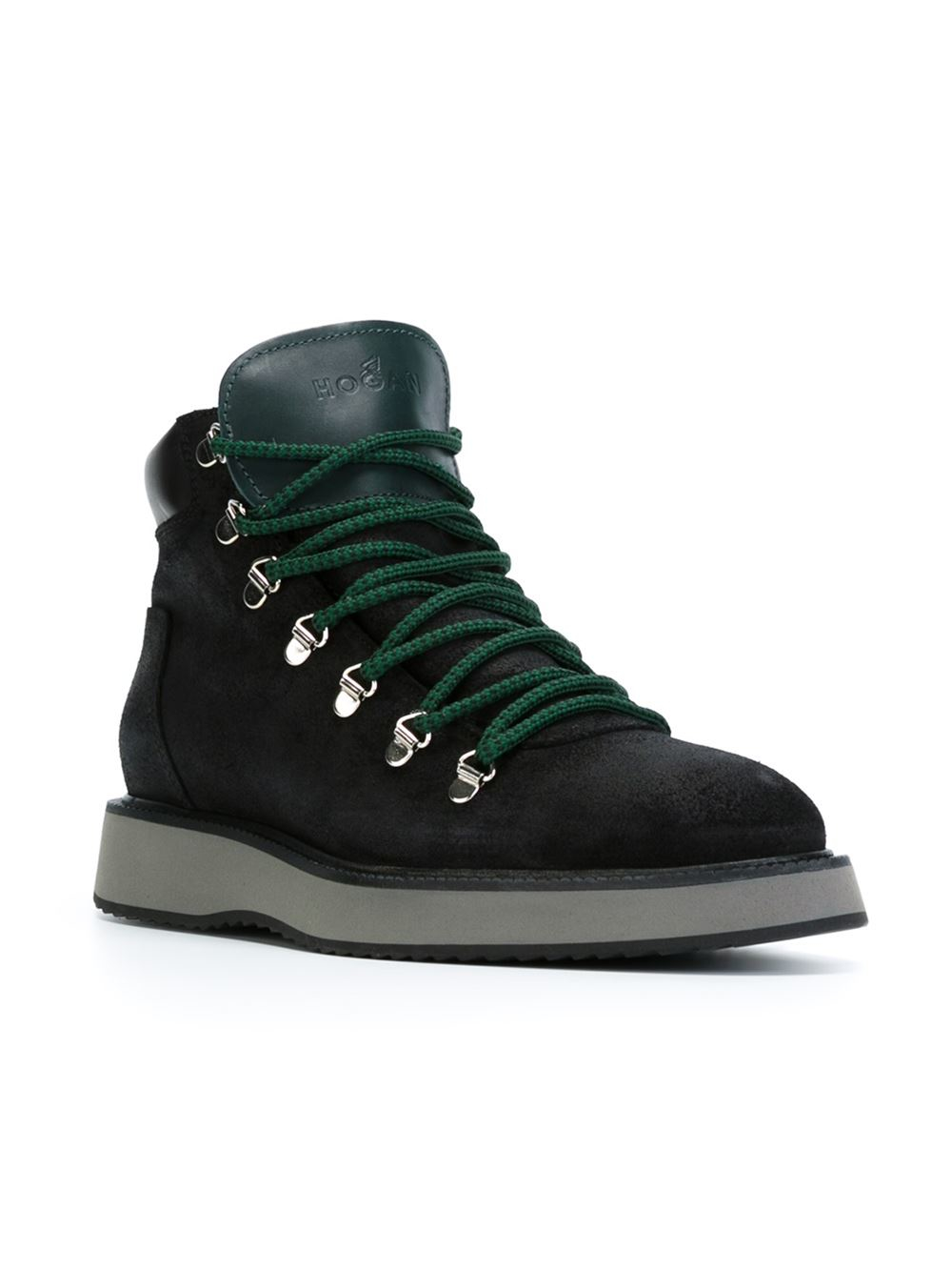 Hogan 'route X H271' Lace-up Boots in Black for Men - Lyst