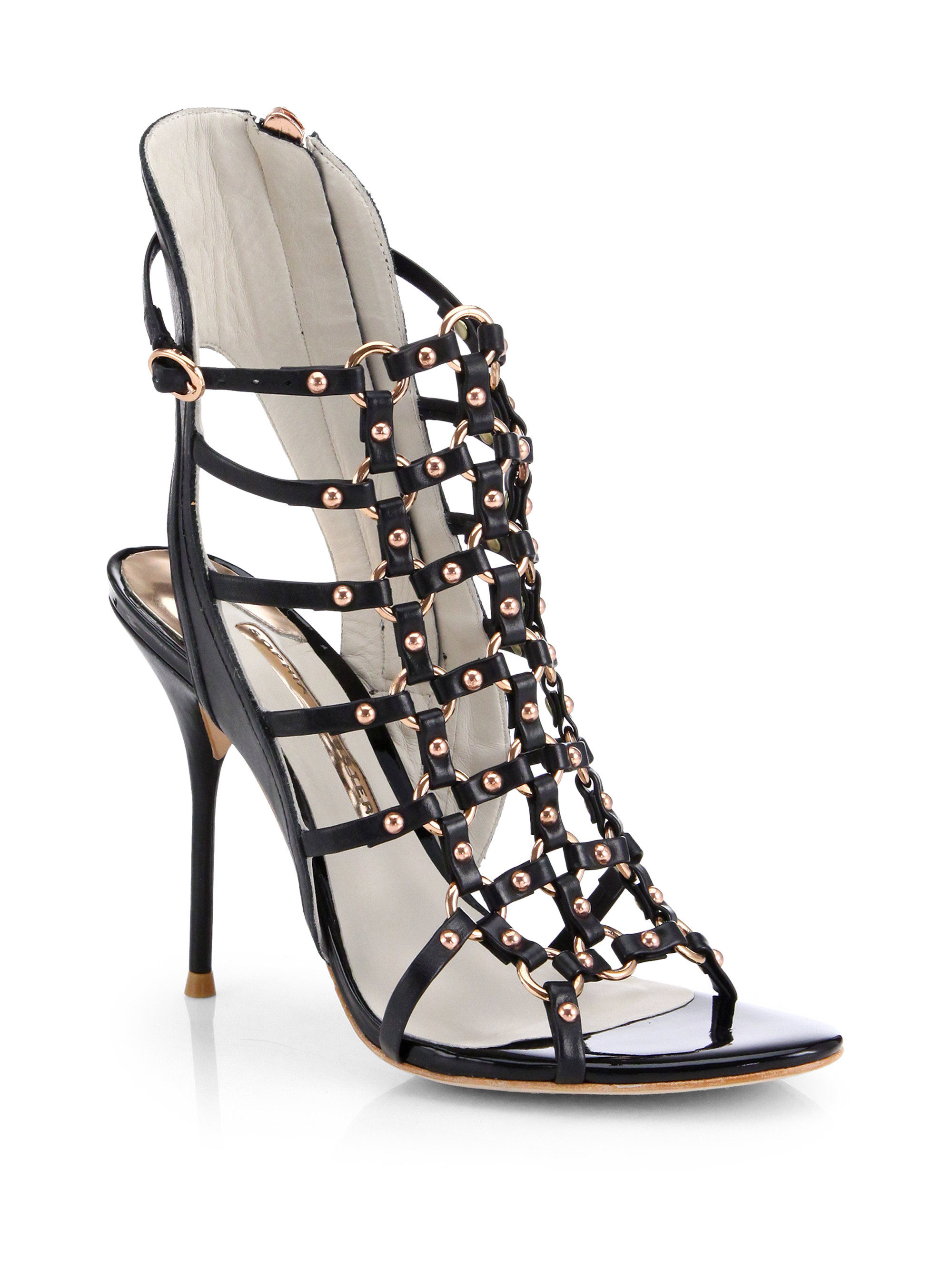 cheap price original cheap price from china Sophia Webster Patent Leather Cage Sandals cheap sale deals kERFjKnh