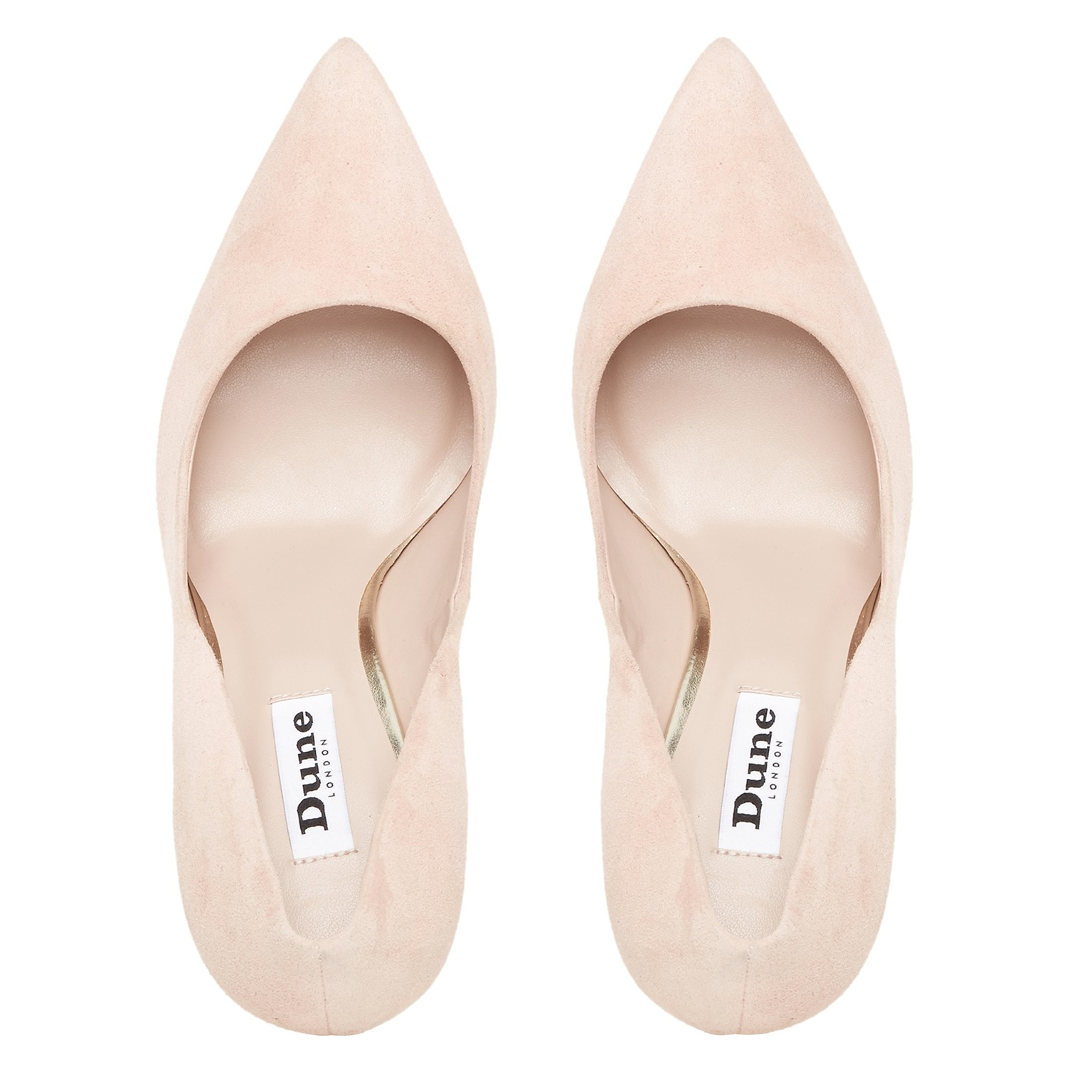 Dune Bonni Suede Pointed Court Shoes in