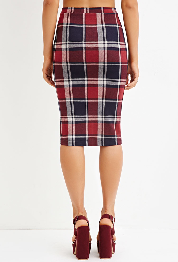 forever 21 tartan plaid pencil skirt you ve been added to