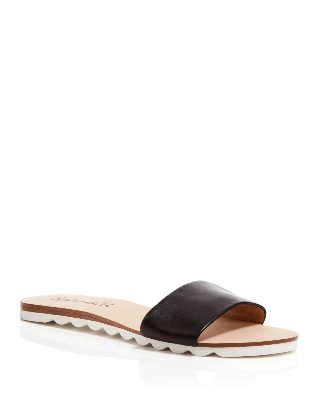 Splendid Open Toe Flat Slide Sandals