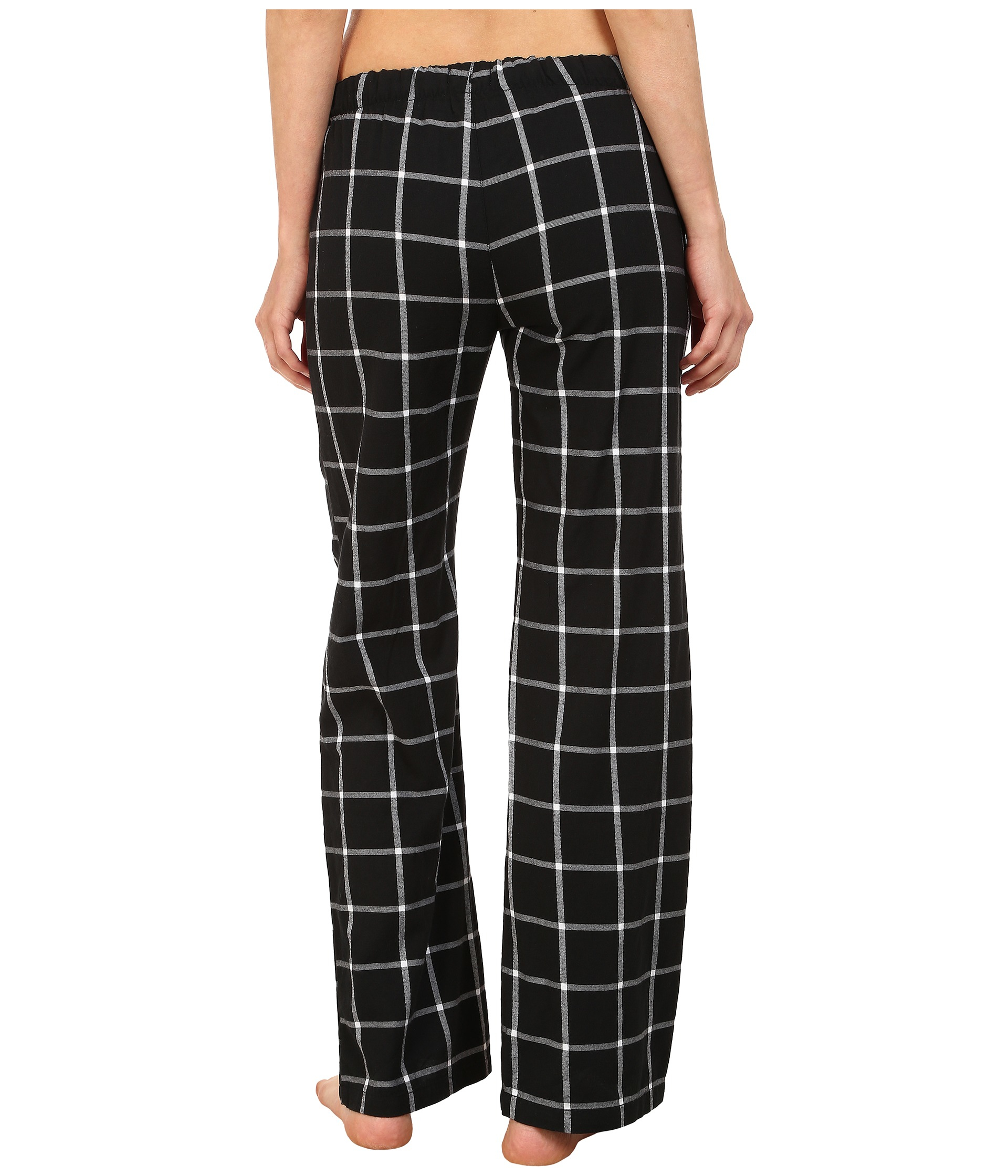 f54718e2e6a Lyst - Pj Salvage Black N Blush Plaid Pajama Pants in Black