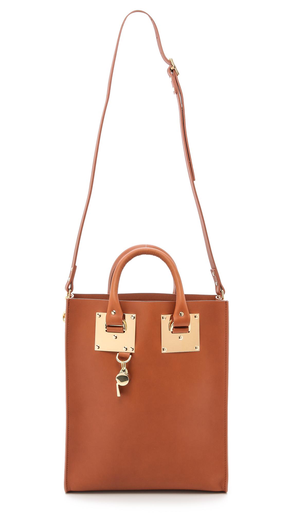 Sophie Hulme Mini Tote Bag Tan in Brown