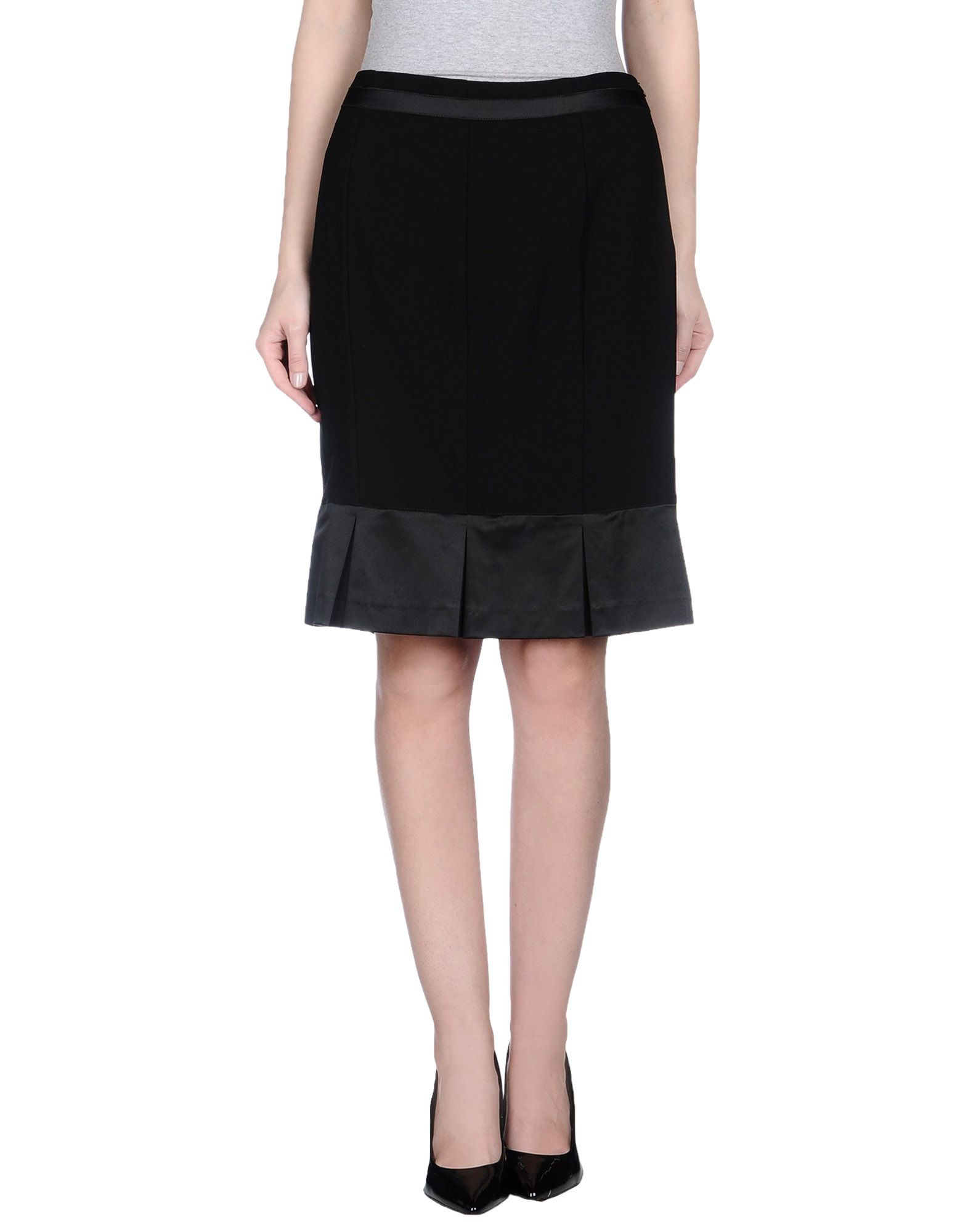 Lyst - Love Sex Money Collection Knee Length Skirt In Black-4152