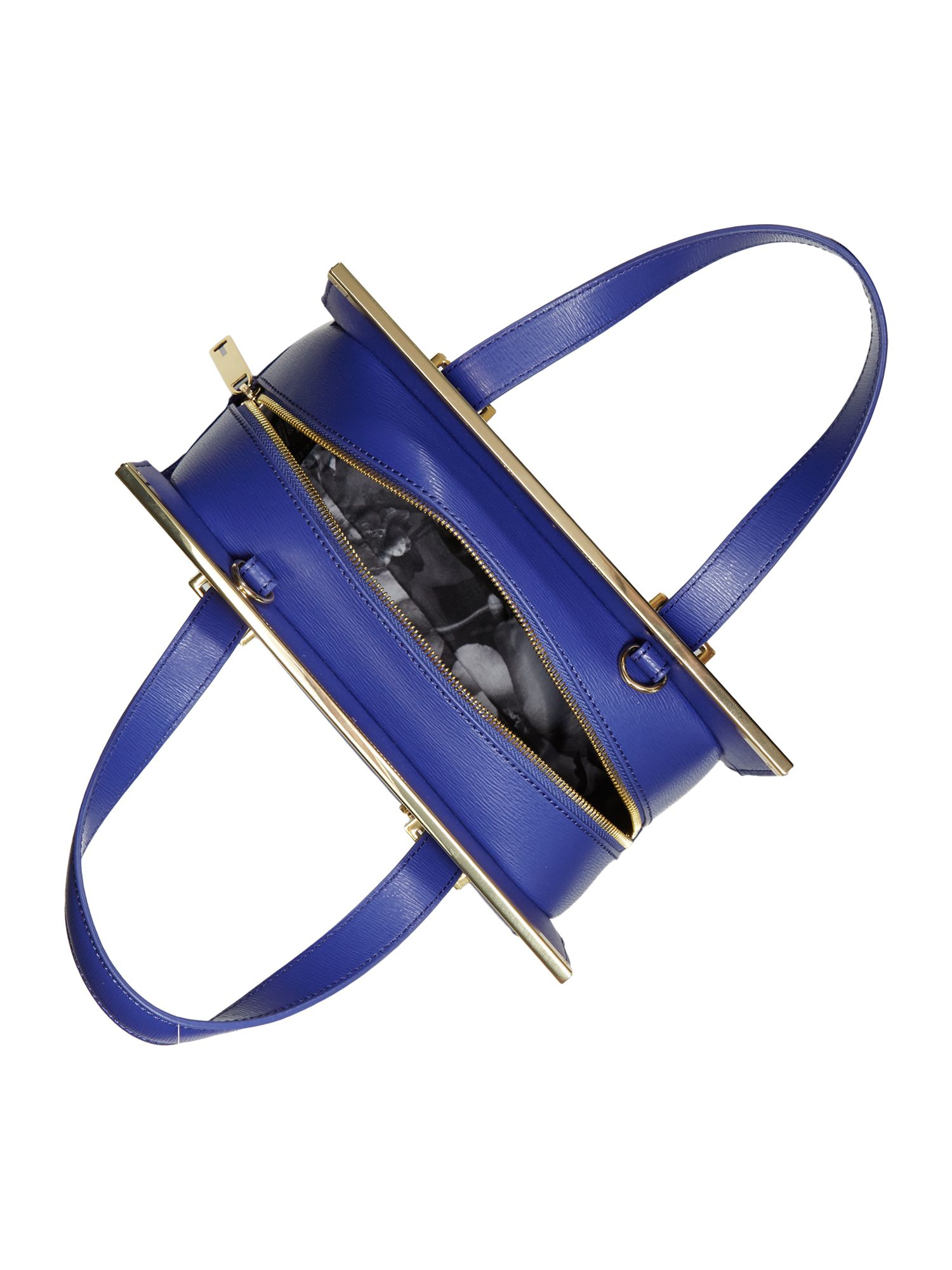 Ted Baker Cristie Blue Metal Bar Tote Bag