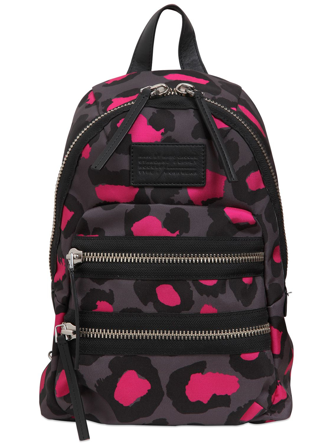 marc by marc jacobs mini packrat leopard printed backpack in pink fuchsia grey lyst. Black Bedroom Furniture Sets. Home Design Ideas