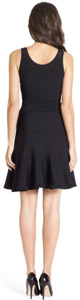 Dvf Perry Structured Flare Dress Perry Flare Knit Dress in