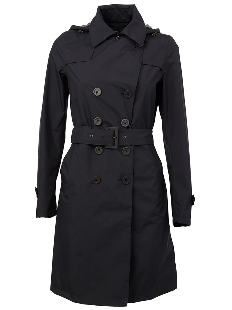 black trench coat with hood - photo #8