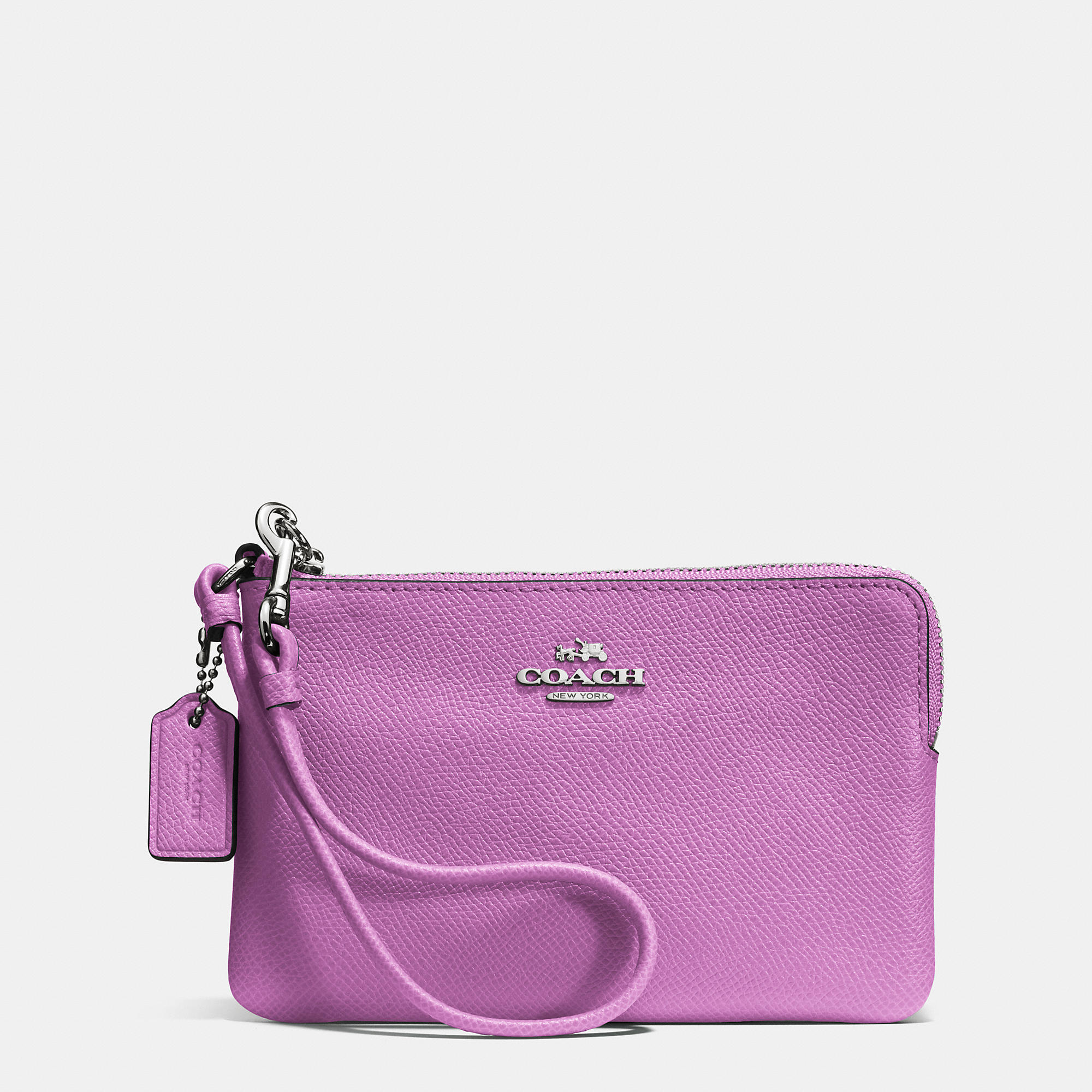 Case Design micheal kors phone cases : Coach Embossed Small L-zip Wristlet In Leather in Pink : Lyst