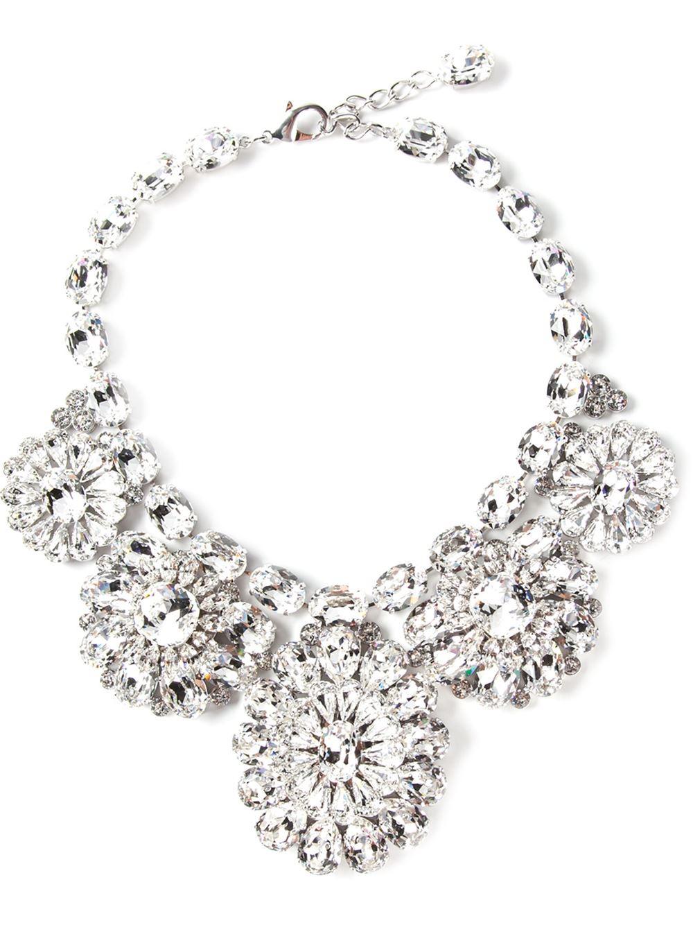 crystal chandelier necklace Dolce & Gabbana WJcBxD