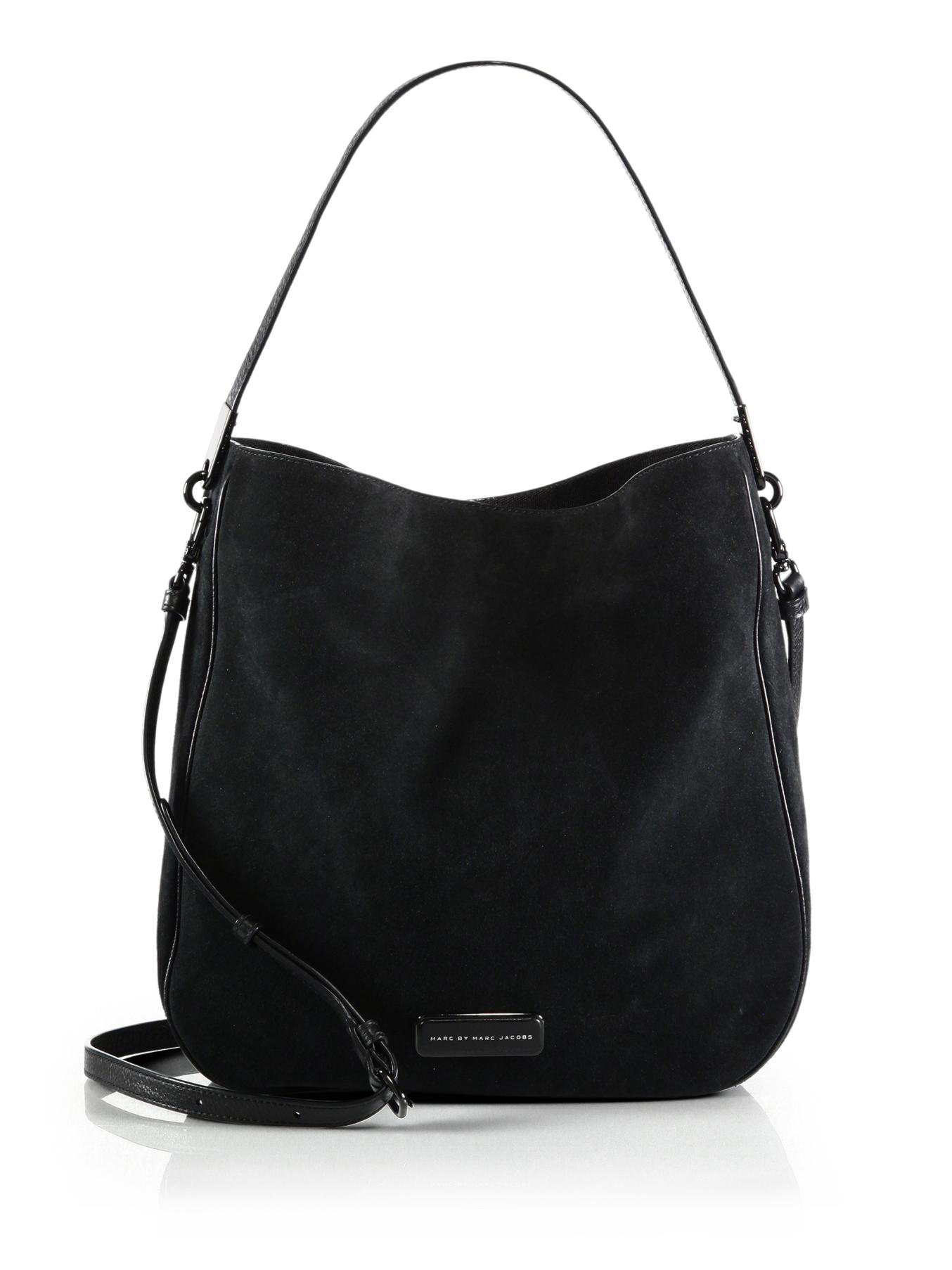 e328bec5e980 Lyst - Marc By Marc Jacobs Ligero Sport Suede Hobo Bag in Black