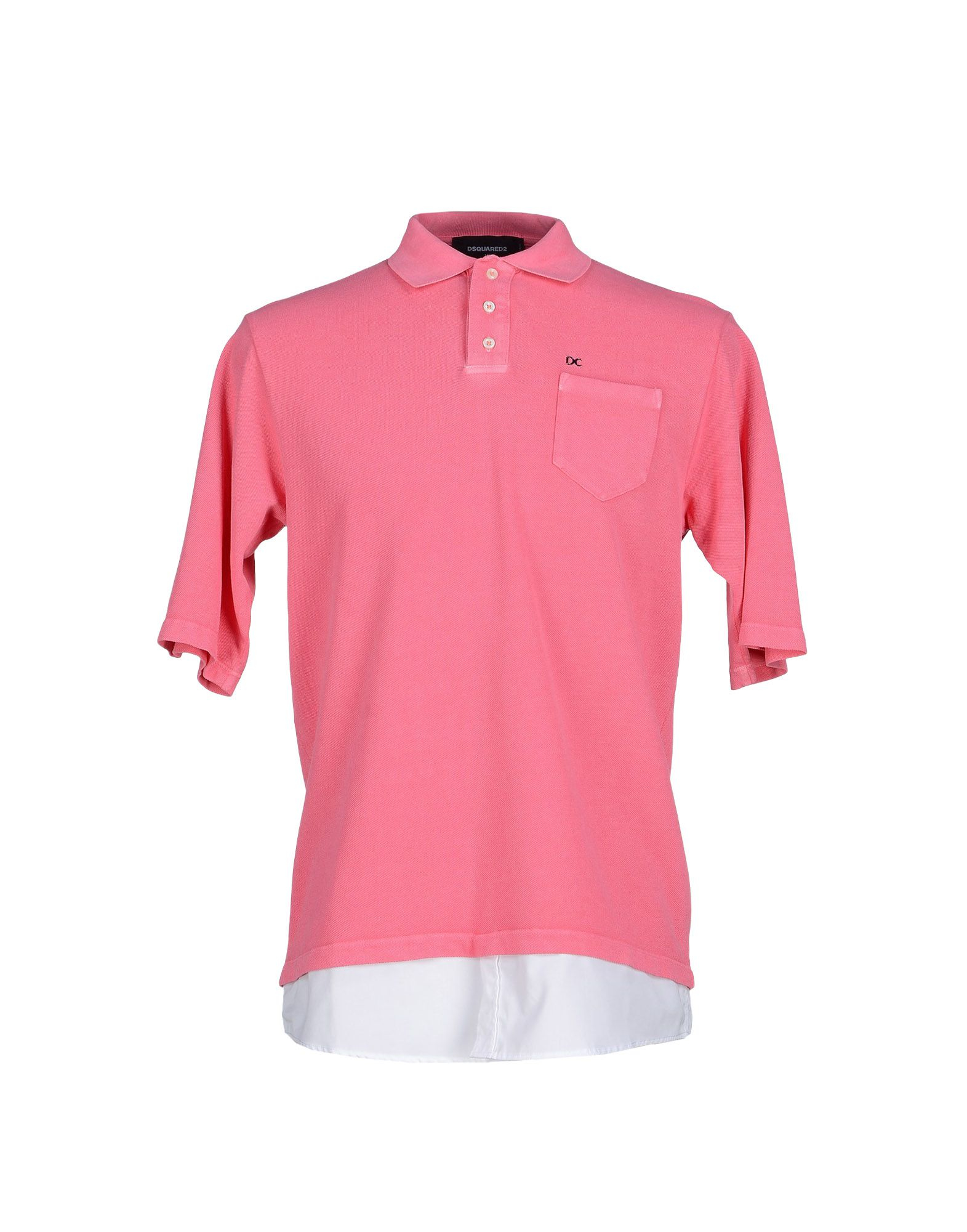 Dsquared polo shirt in pink for men lyst for Bear river workwear shirts