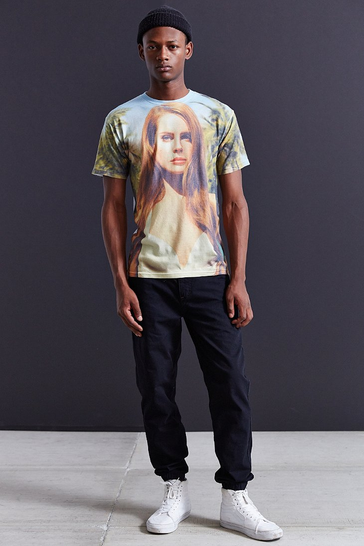 Urban Outfitters Cotton Lana Del Rey Paradise Tee For Men Lyst