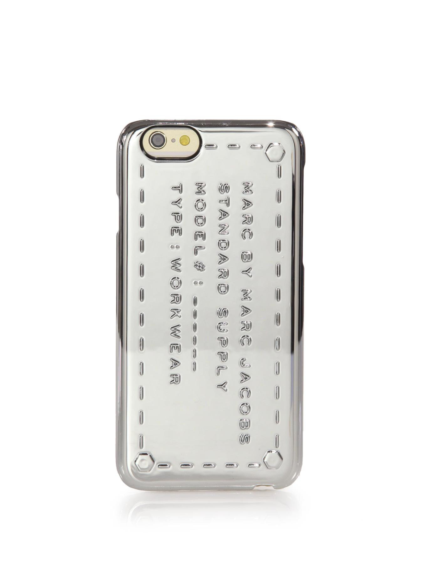lyst marc by marc jacobs standard supply metallic iphone. Black Bedroom Furniture Sets. Home Design Ideas
