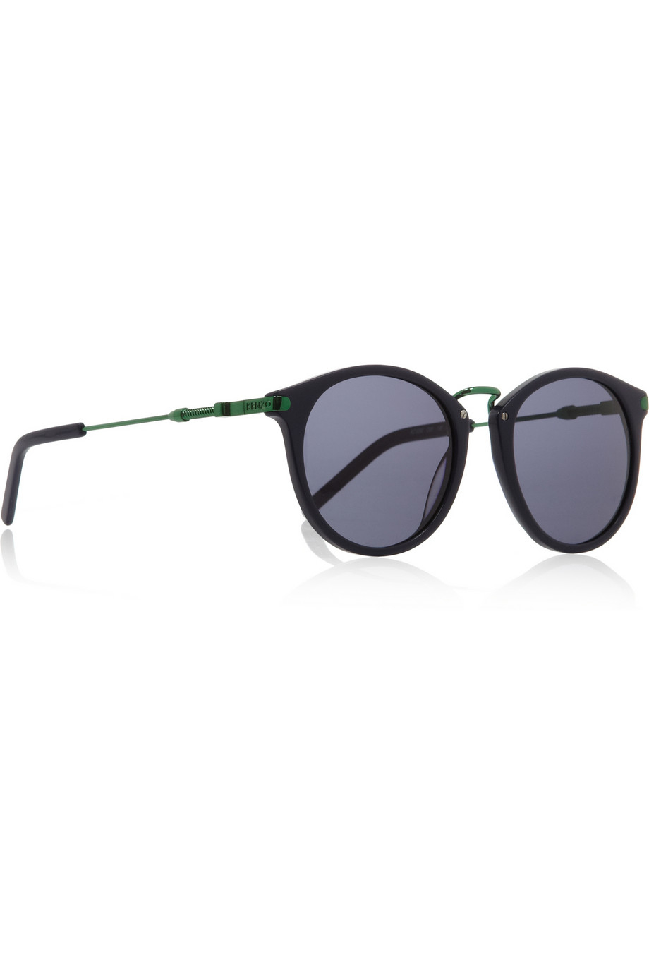 9c429bc3df Lyst - KENZO Round-Frame Acetate And Metal Sunglasses in Blue