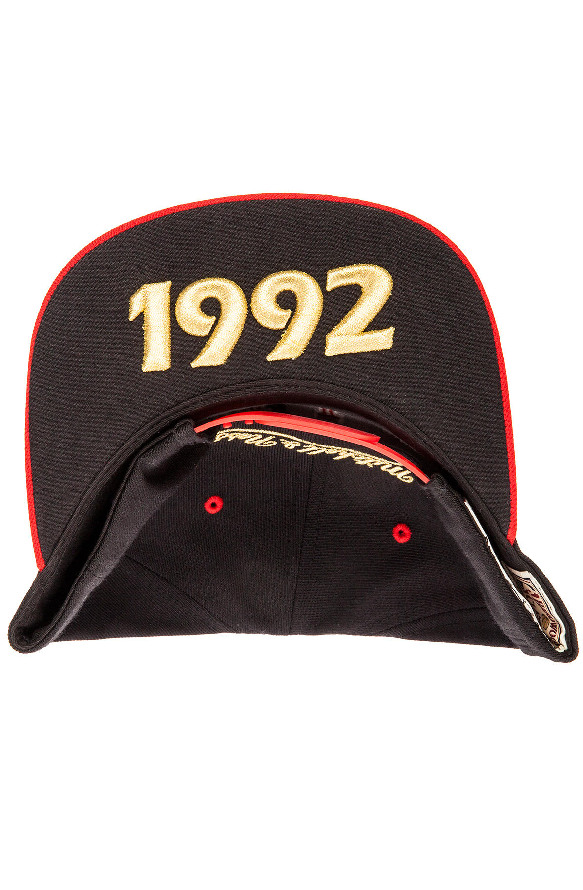 be6a4fbc6a1f1 Lyst - Mitchell   Ness The Chicago Bulls Commemorative Snapback Hat ...