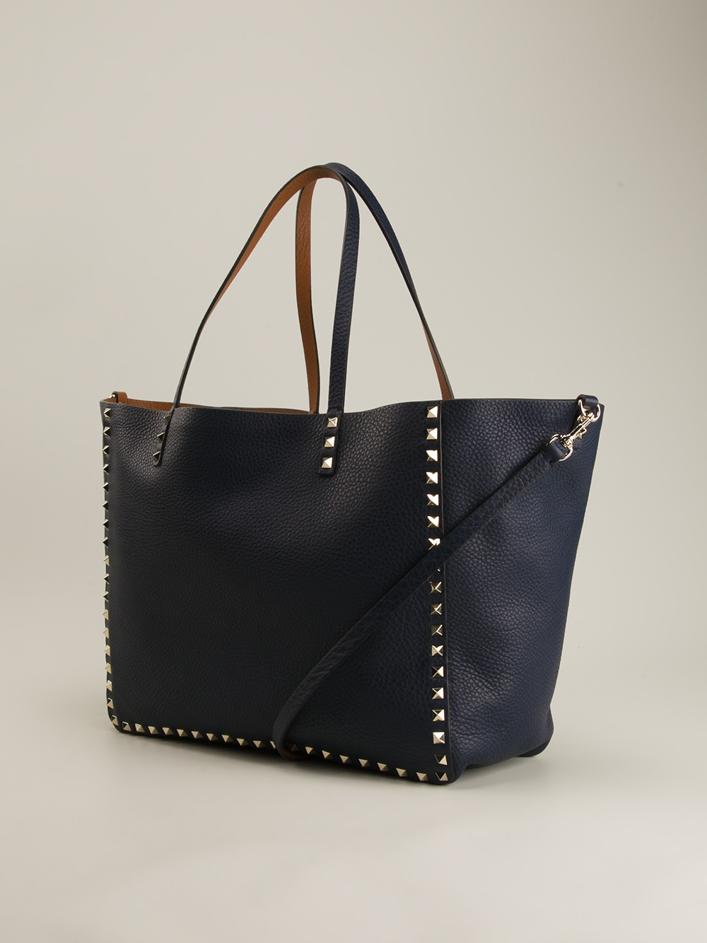 Lyst Valentino Rockstud Shoulder Bag In Blue