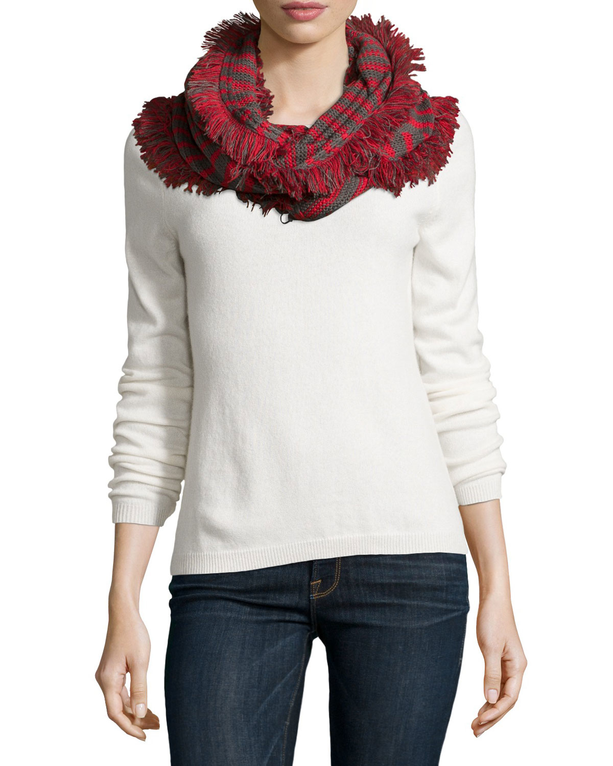neiman nautical eternity scarf in gray lyst