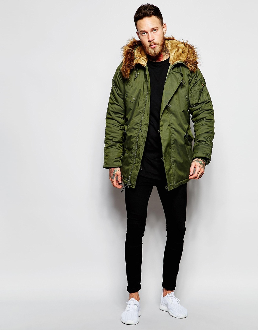 alpha industries lpha industries explorer parka in green. Black Bedroom Furniture Sets. Home Design Ideas