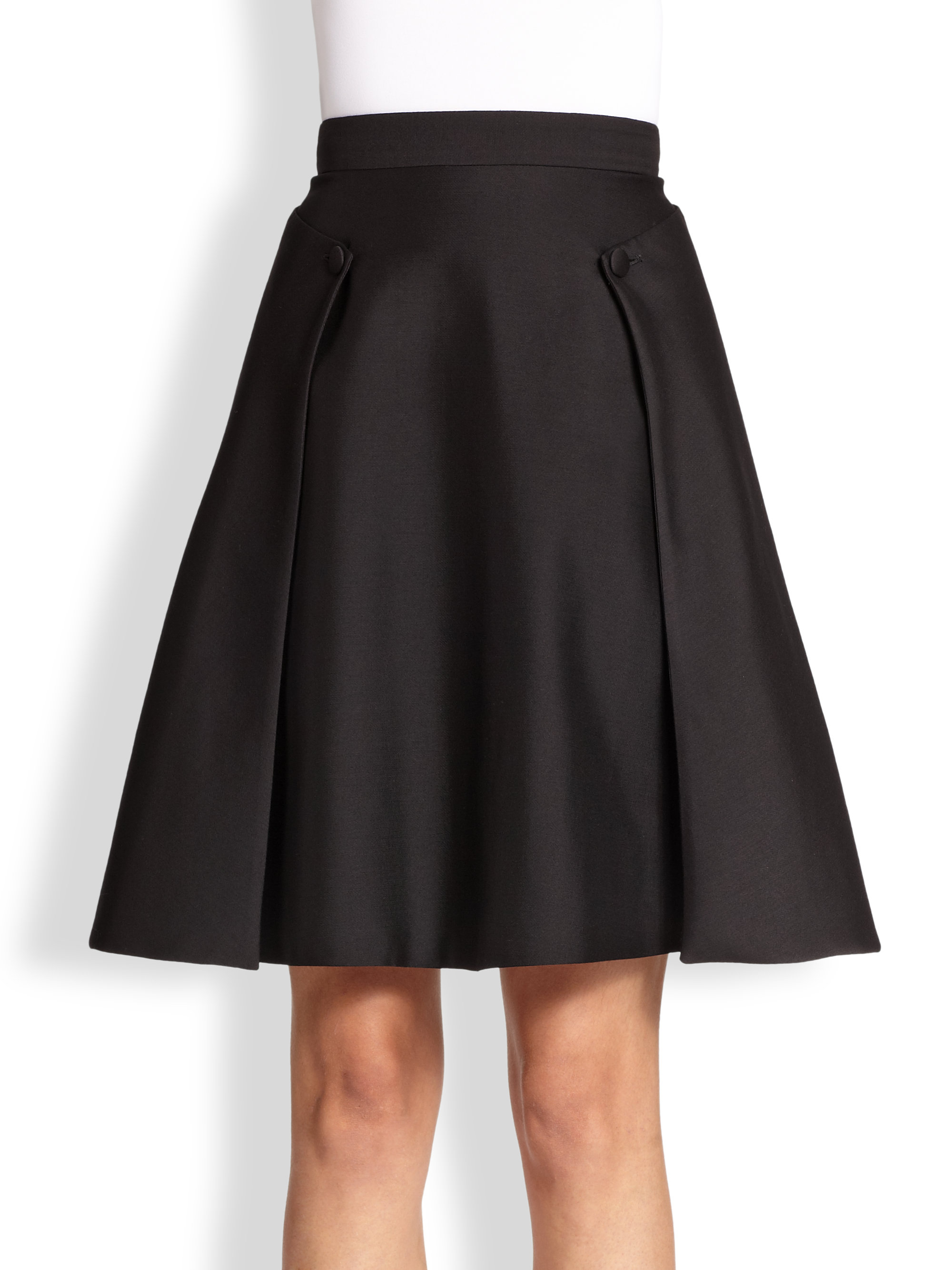 mcqueen layered a line skirt in black lyst