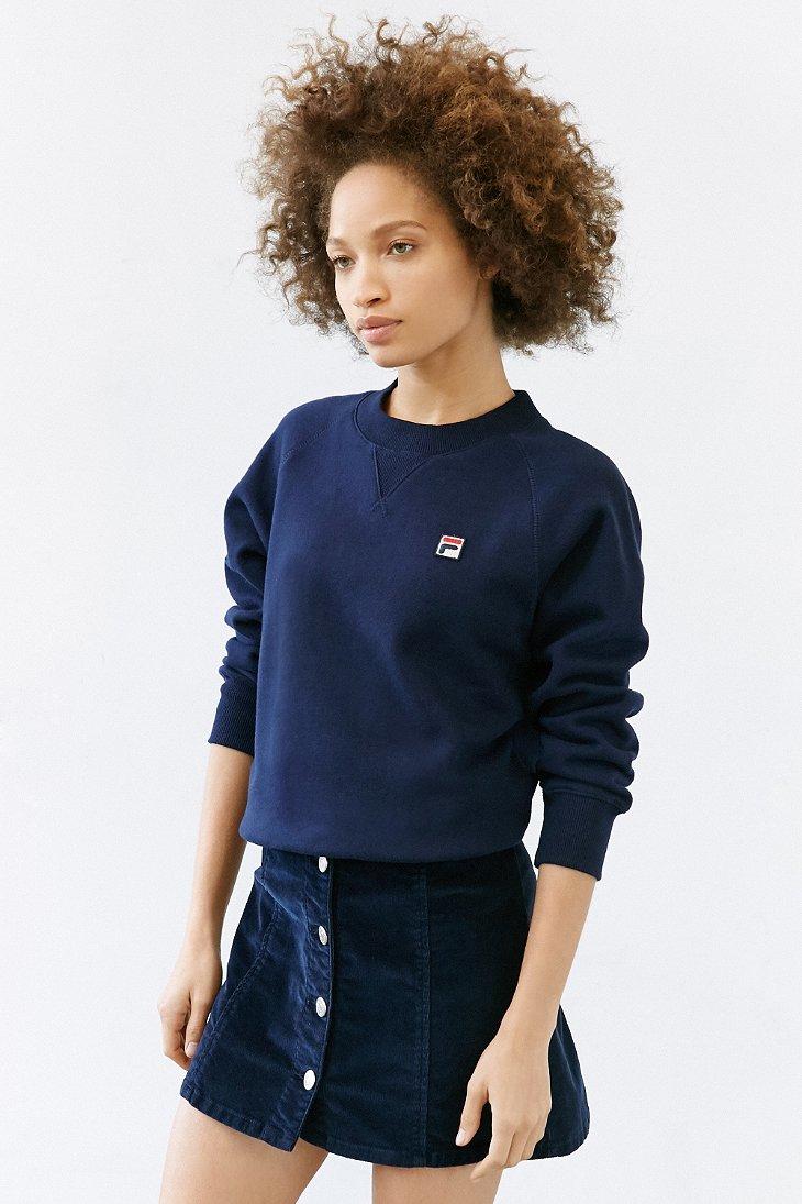 f5dd55f2 Fila Blue + Uo Massimo Raglan Sweatshirt