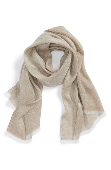ferragamo gancini linen scarf in for