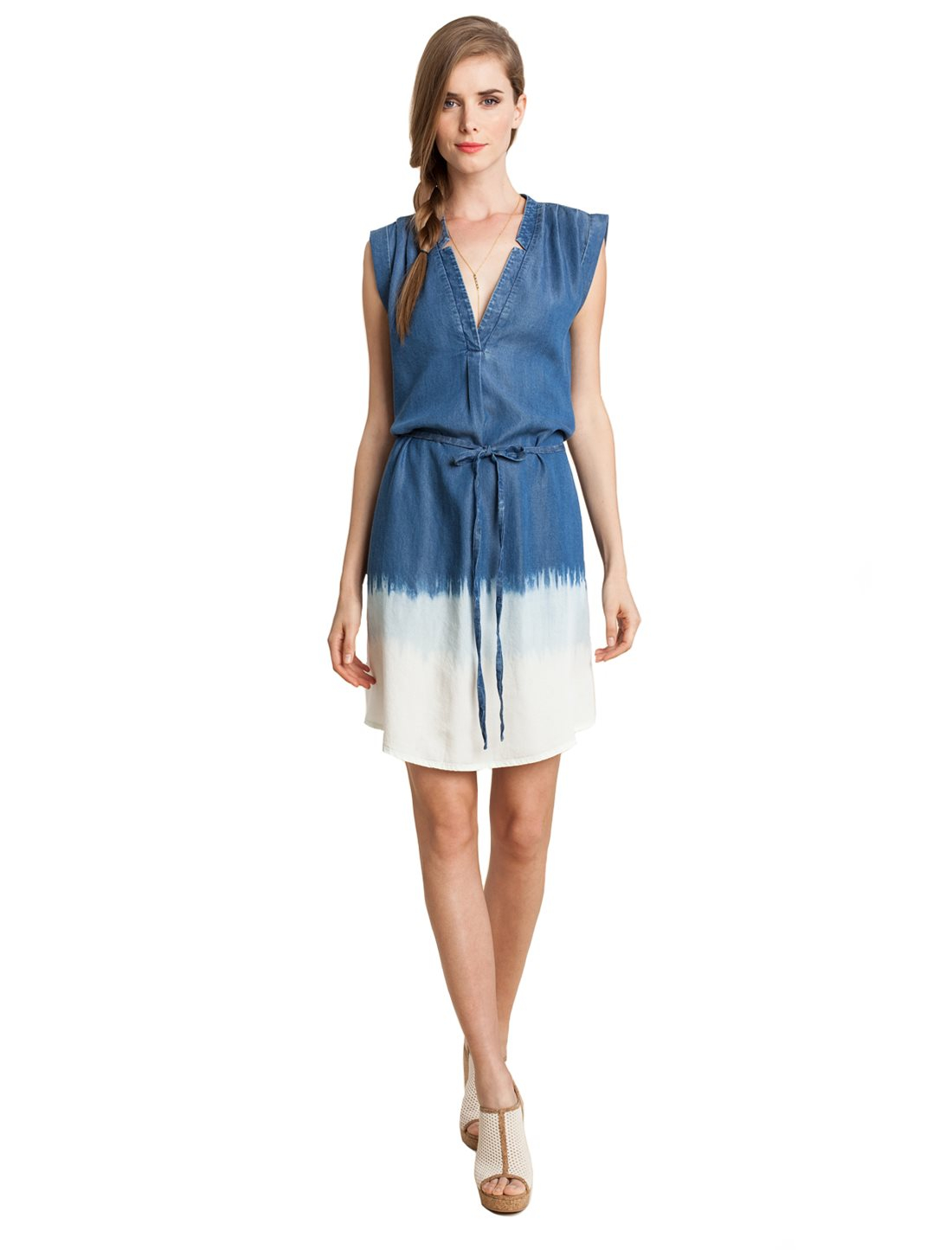 Splendid chambray shift dress in blue med wash lyst for Chambray dress