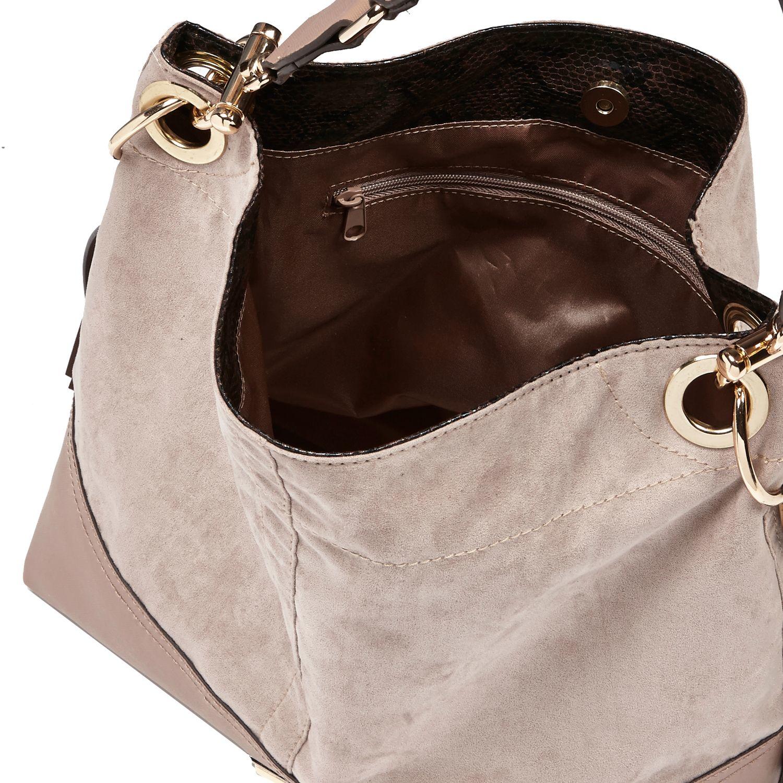 River Island Grey Faux Suede Slouchy Tassel Handbag in Gray - Lyst 898f39575702e