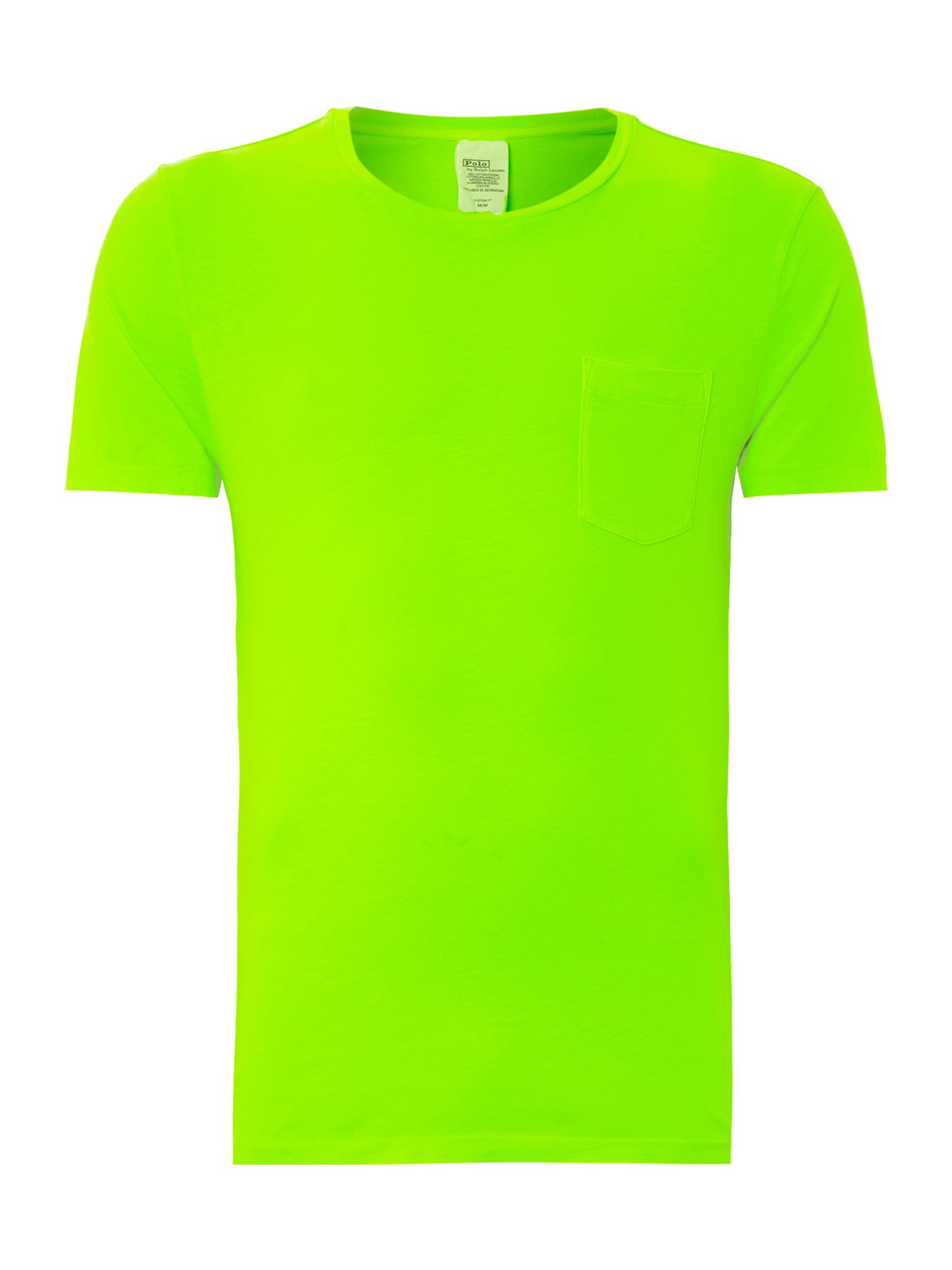Polo ralph lauren crew neck pocket t shirt in green for for Polo t shirts with pocket online