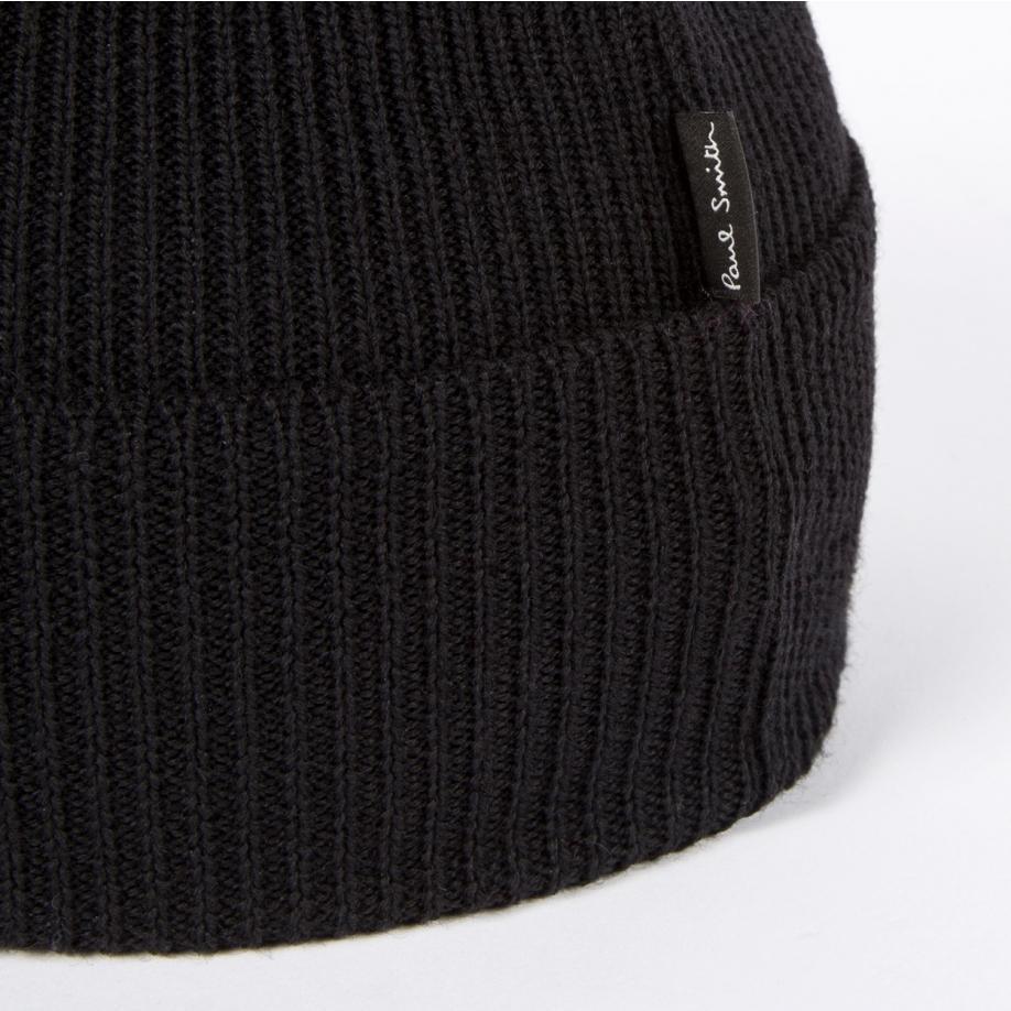 Lyst - Paul Smith Black Wool Beanie Hat in Black for Men 1ce3a5a4b52