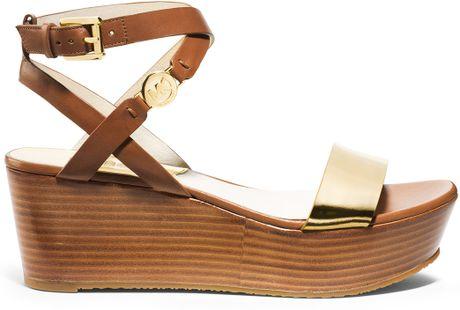 Michael Kors Gold Platform Sandals Platform Sandal in Gold