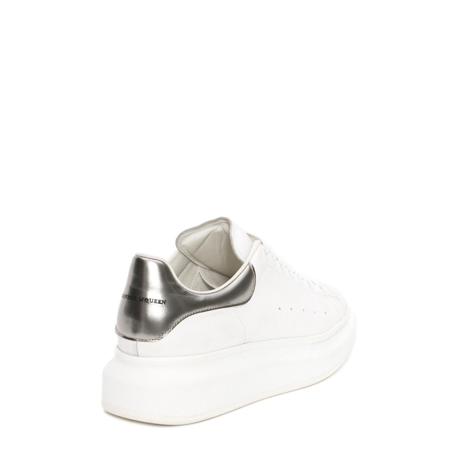 silver alexander mcqueen trainers