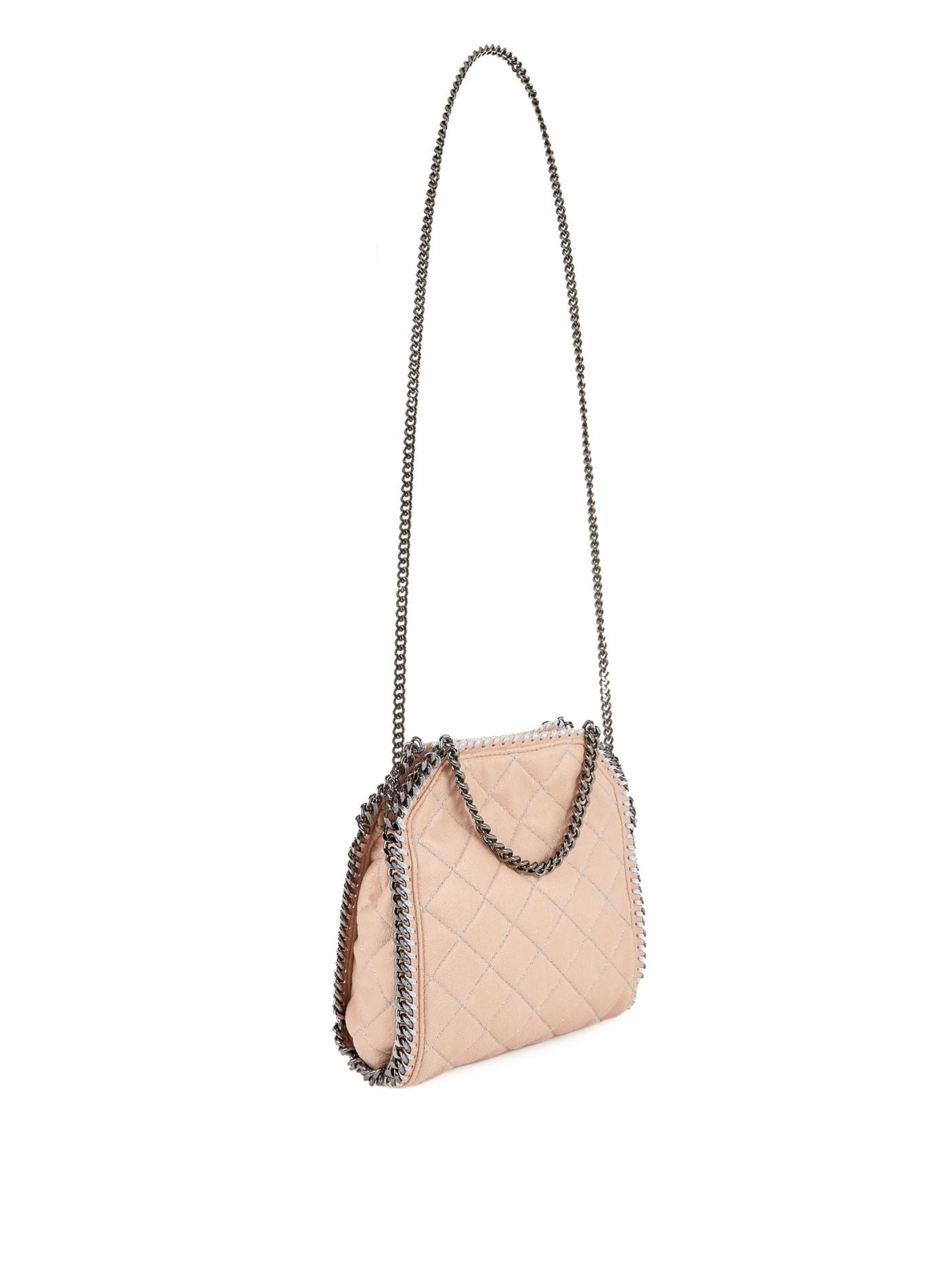 21154861e374 Lyst - Stella McCartney Falabella Mini Quilted Cross-Body Bag in Natural