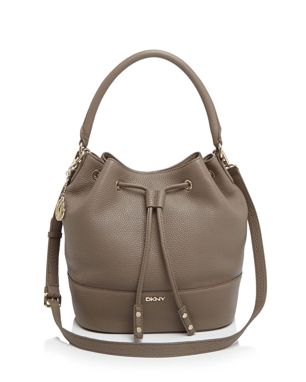 b458459e7 Lyst Dkny Shoulder Bag Tribeca Bucket Drawstring In Brown