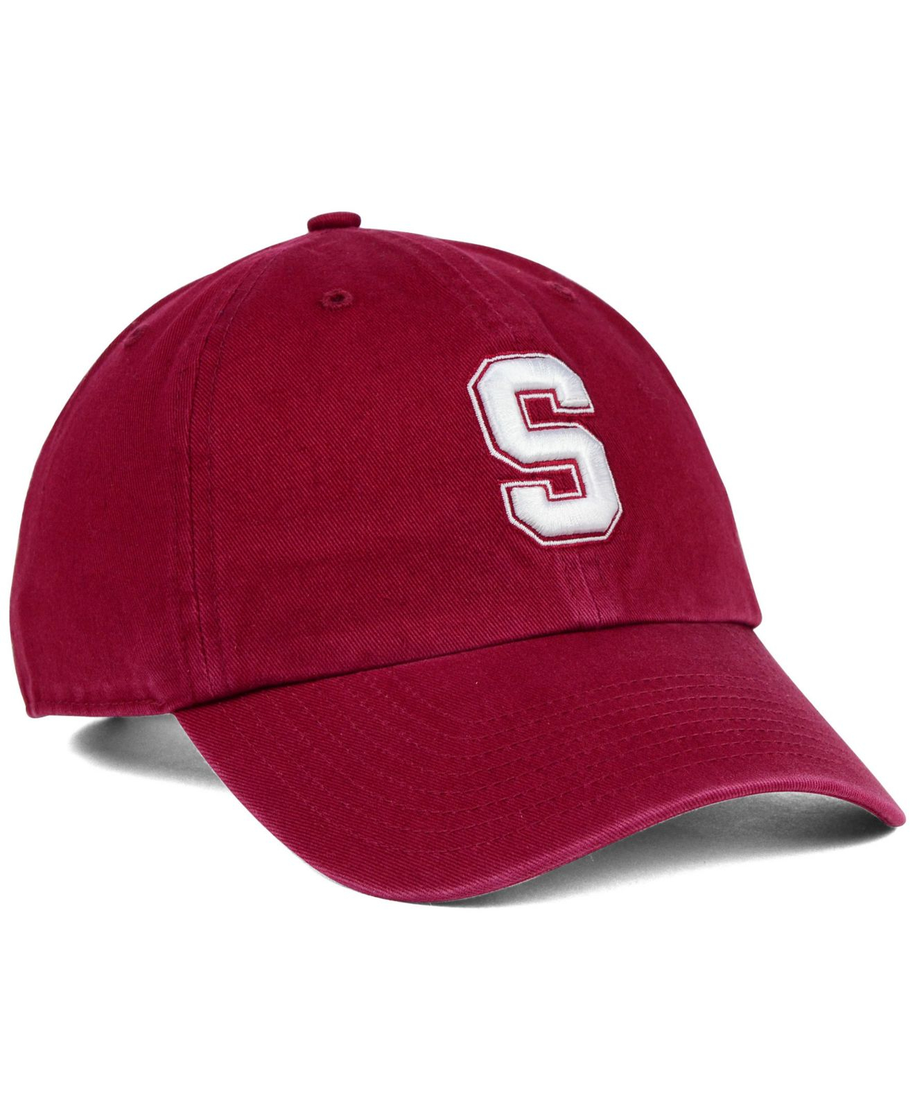 buy popular 6a489 604af uk stanford cardinal nike adjustable baseball hat 382a4 f357f  release date  lyst 47 brand stanford cardinal clean up cap in red for men 0f9b9 e56cc