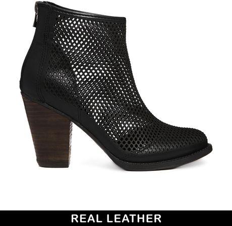 aldo mazzucco black leather boots in black lyst