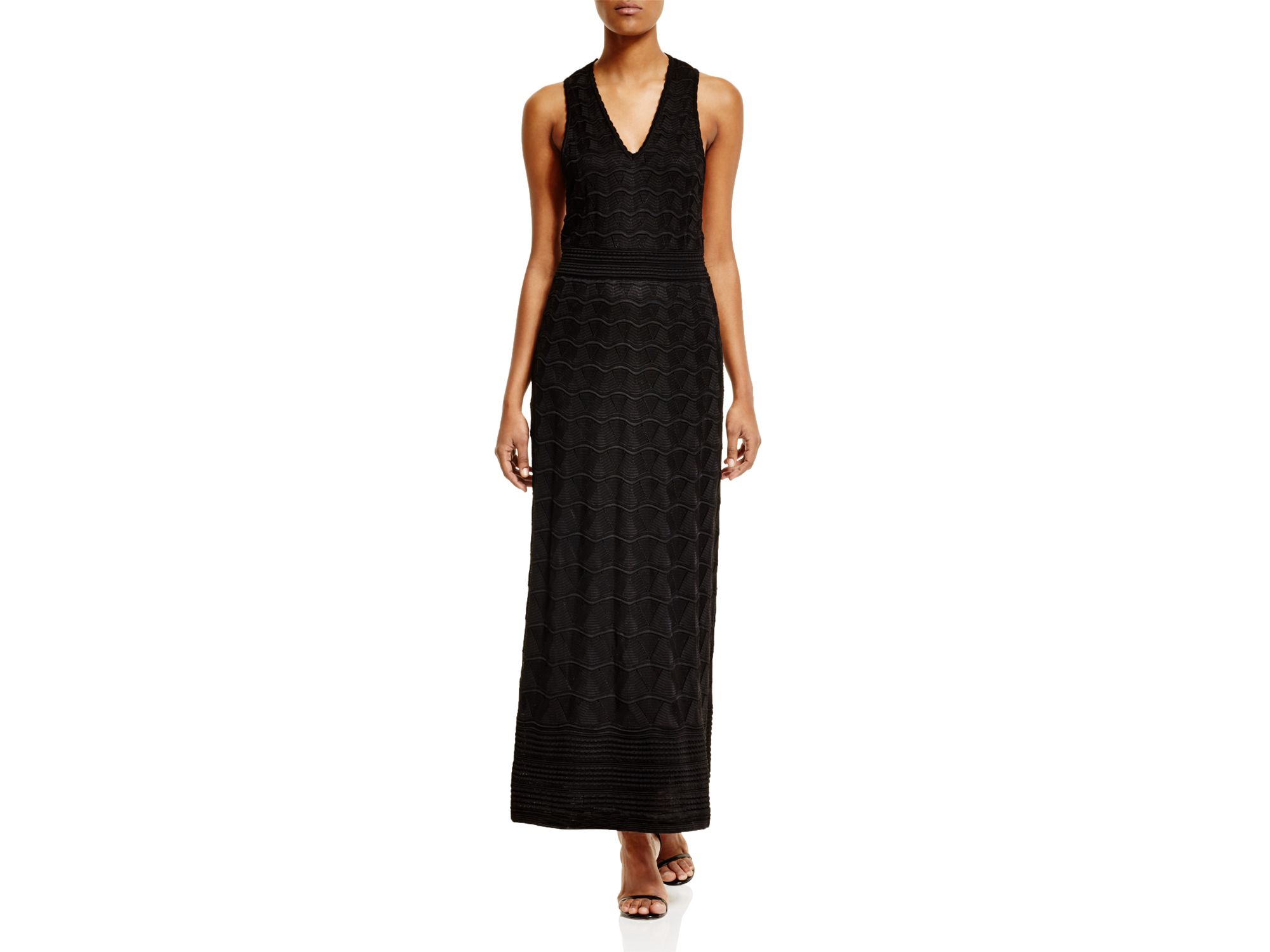 M missoni Knit Racerback Maxi Dress in Black  Lyst