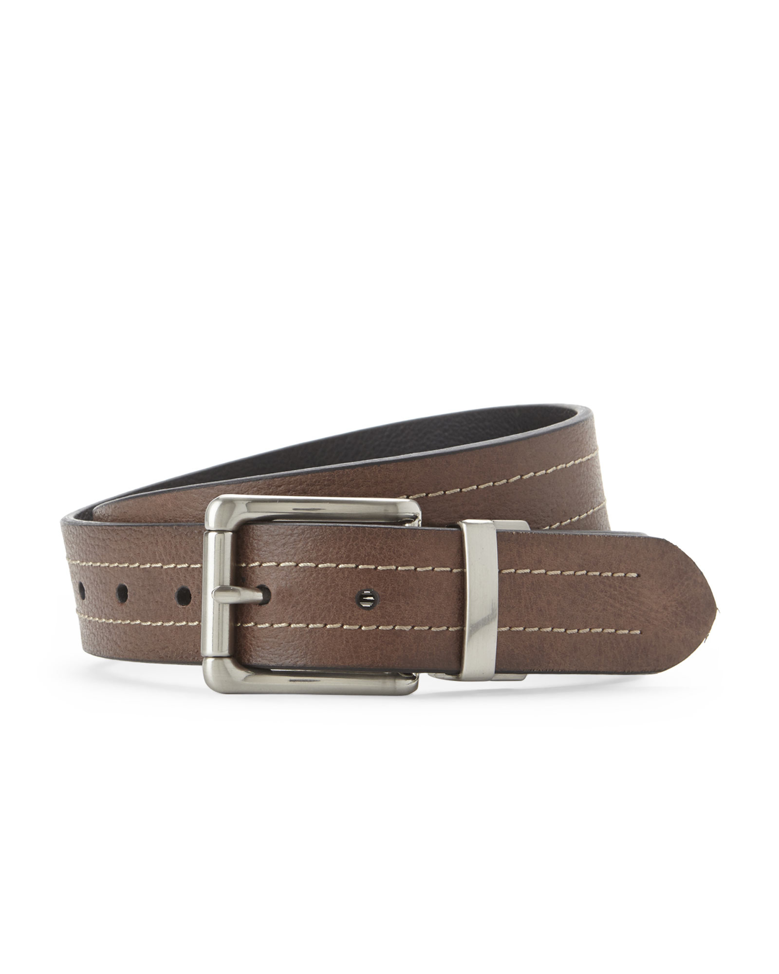 fossil brown black reversible belt in brown for