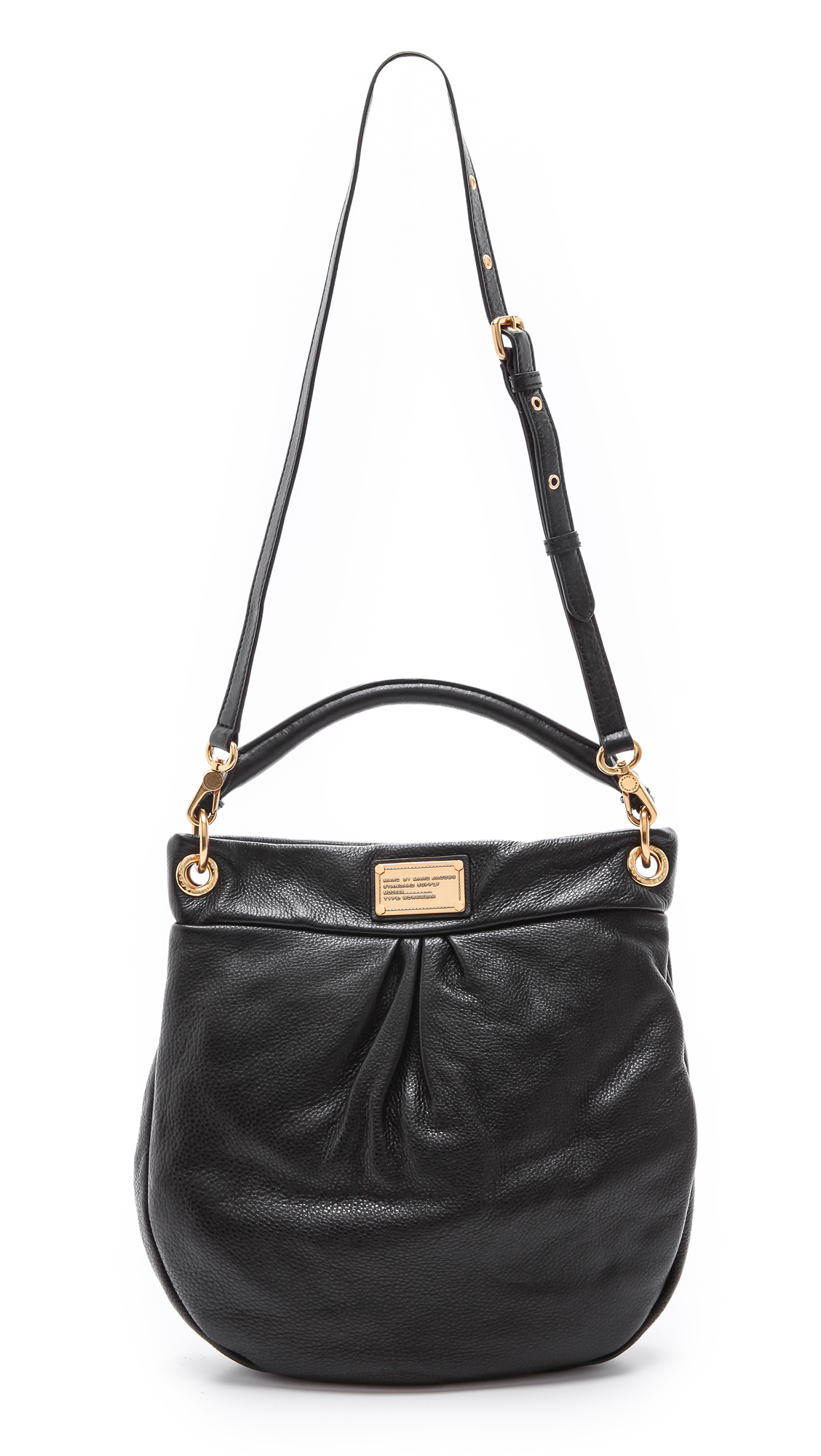 marc by marc jacobs classic q hillier hobo black in gold lyst. Black Bedroom Furniture Sets. Home Design Ideas