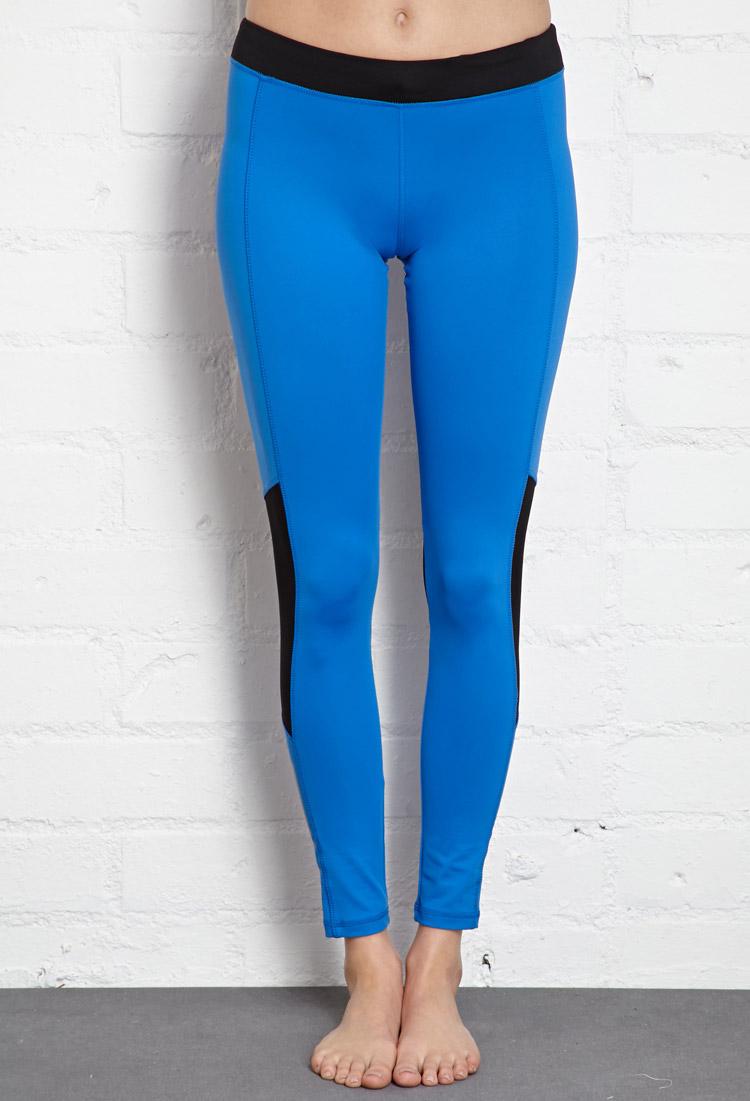 Lyst Forever 21 Reflective Skinny Performance Leggings