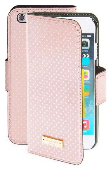 quality design 7d566 272e1 kate spade new york Pink 'tiny Gold Dot' Iphone 6 Folio Case