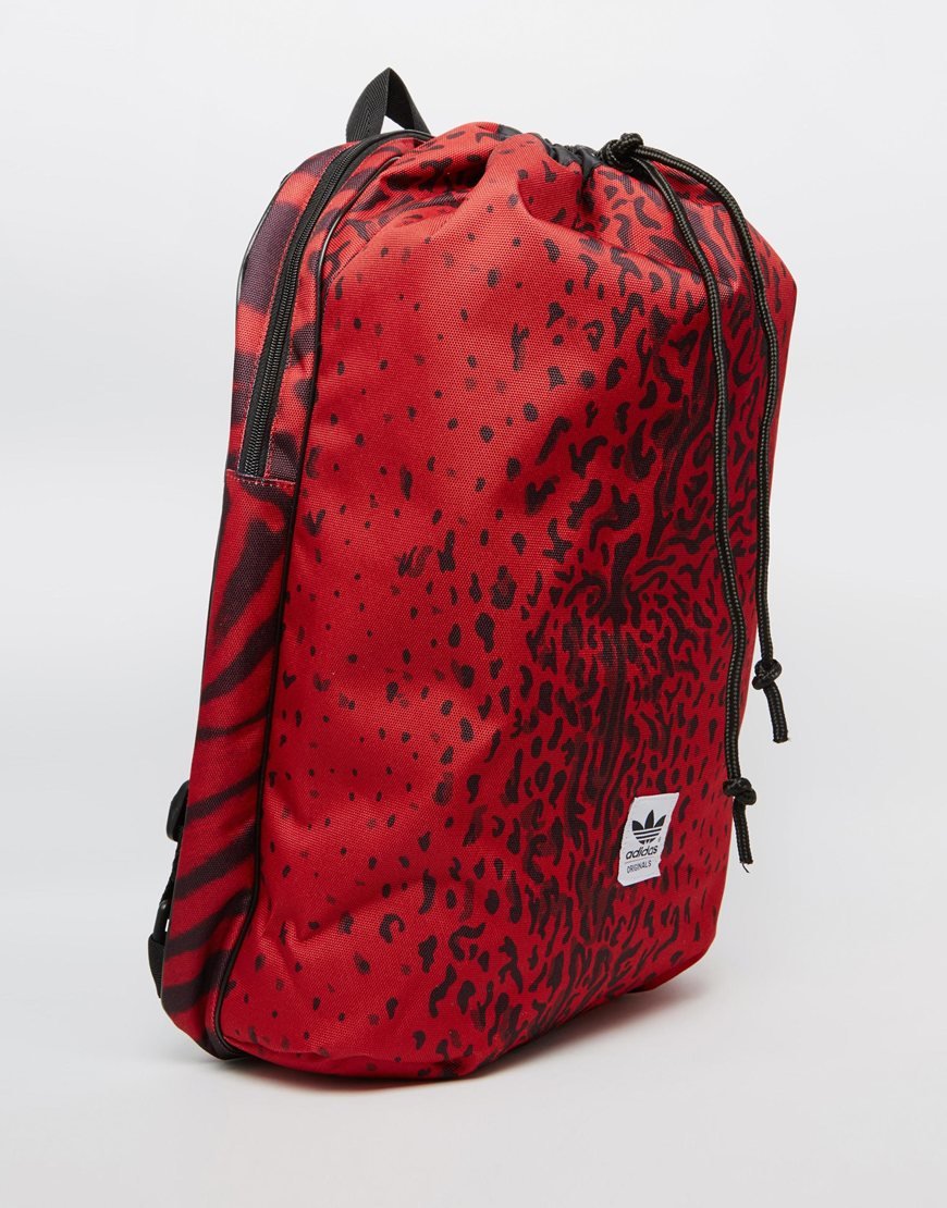 Lyst Adidas Printed Backpack In Red