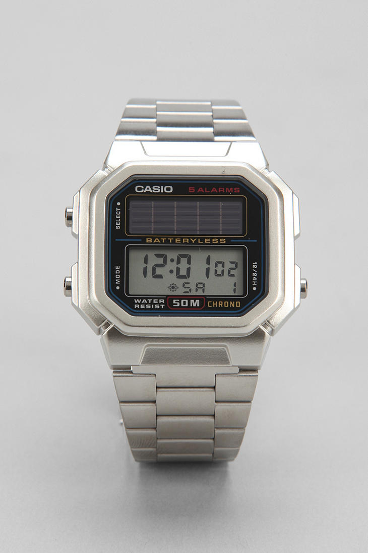 Watch Videos Music And Live Streams On The App: G-Shock Solar Watch In Metallic For Men