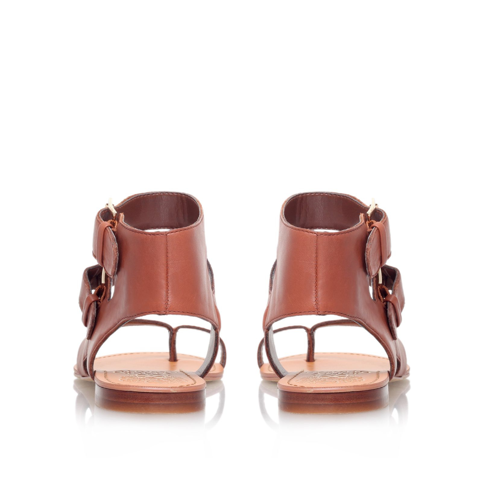 Vince Camuto Moverz Flat Ankle Strap Sandals In Brown Lyst