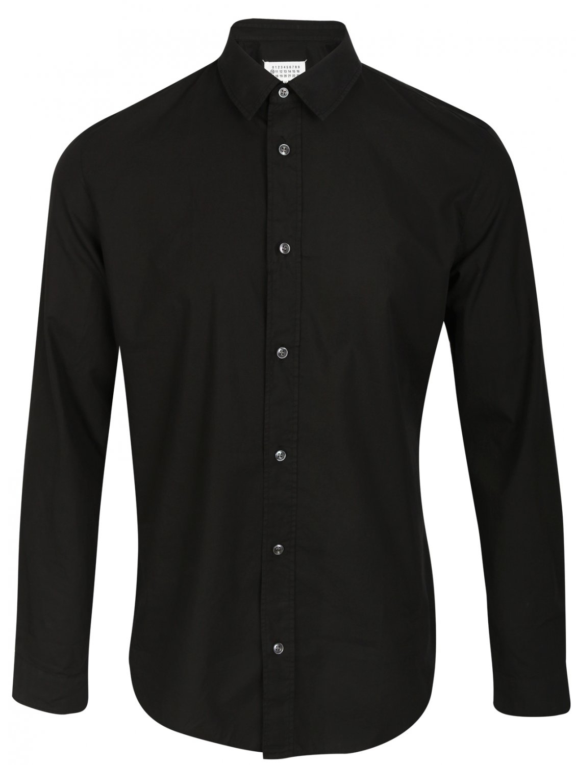 maison margiela classic black button down cotton oxford