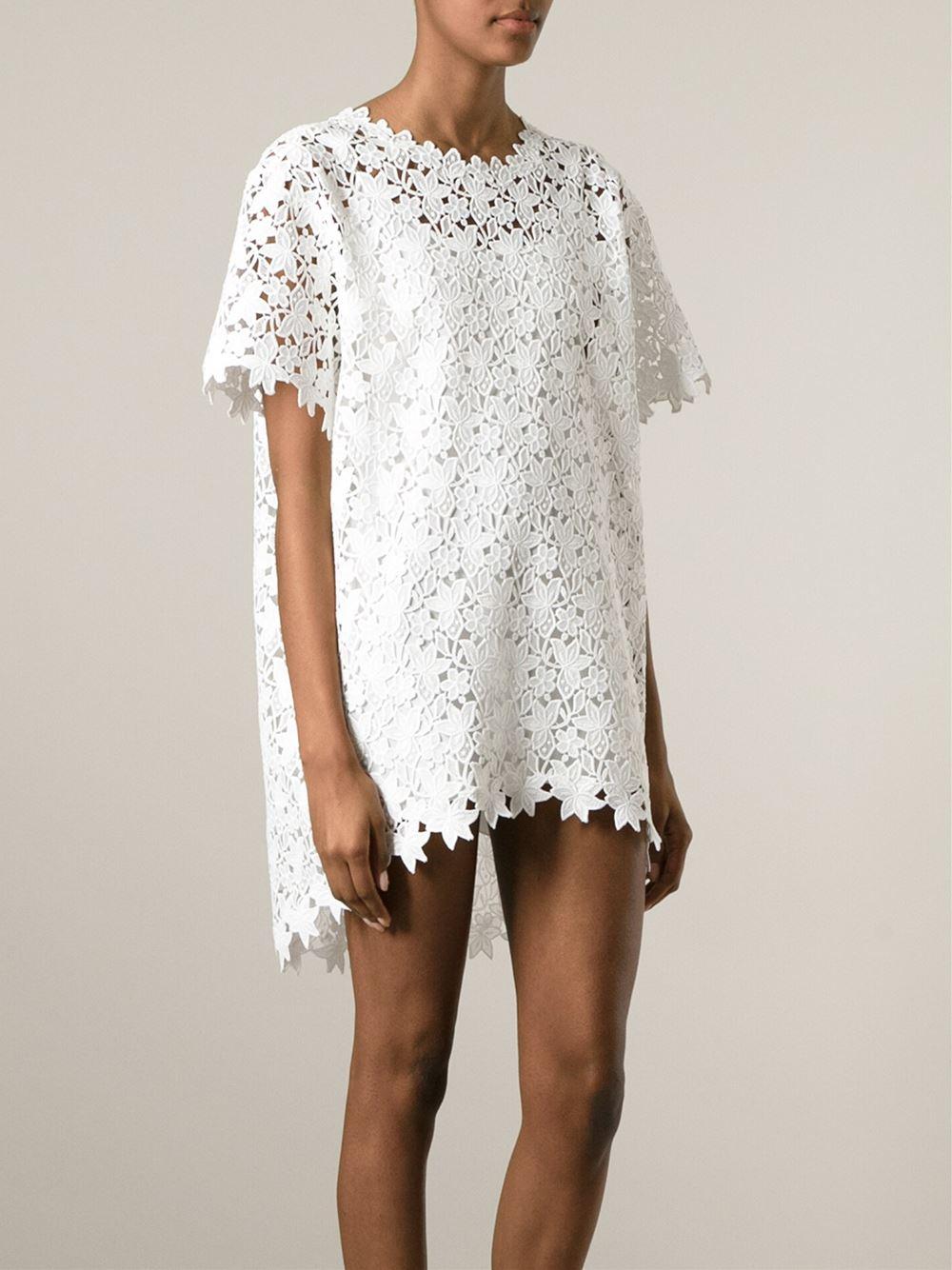 long lace detail dress - White Ermanno Scervino G23l4pyga
